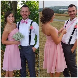 Blush Pink Strapless Dress